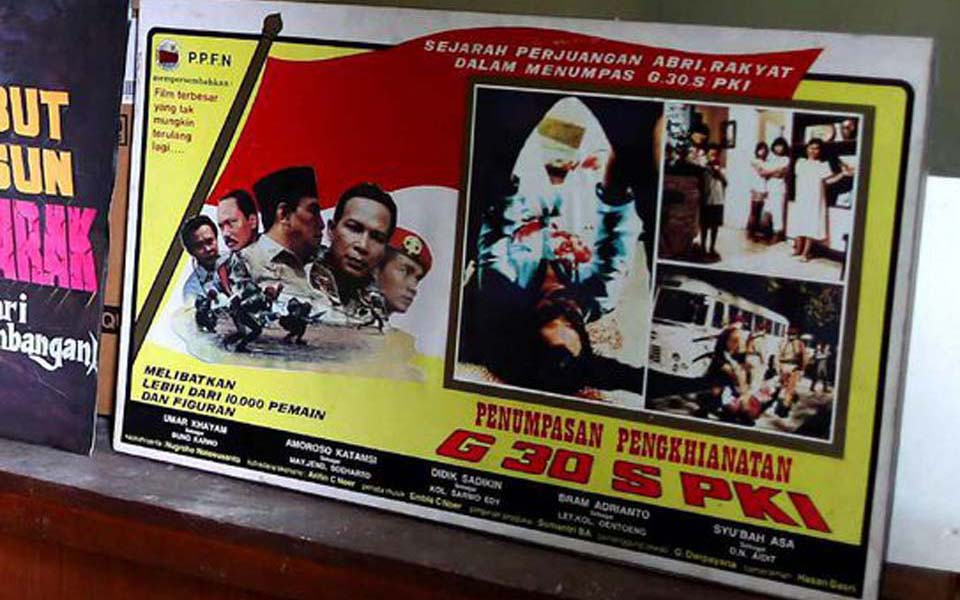 G30S-PKI film poster at the State Film Company collection (CNN)