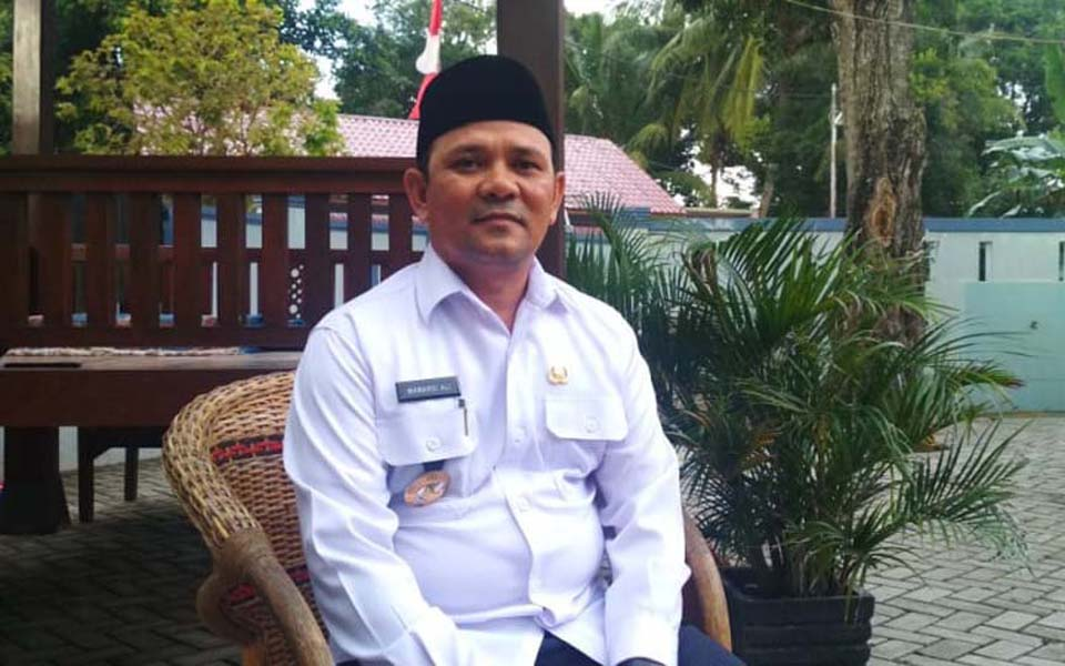 Greater Aceh regent Mawardi Ali (Kumparan)