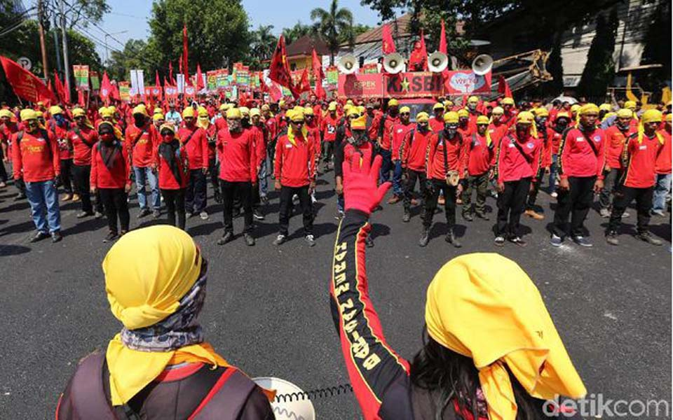 Indonesian Trade Union Congress Alliance rally in Jakarta (Detik)
