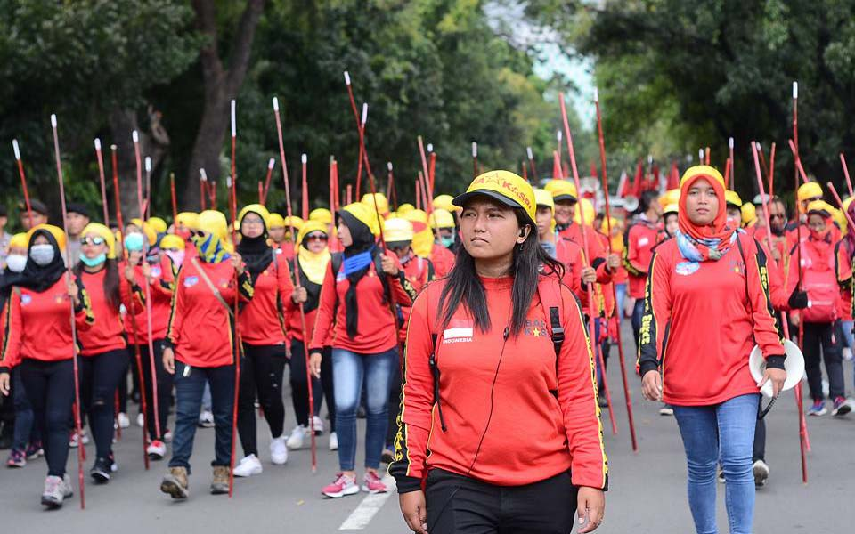 KASBI workers rally on IWD in Jakarta - March 8, 2018 (Rukhiyatul Umami)