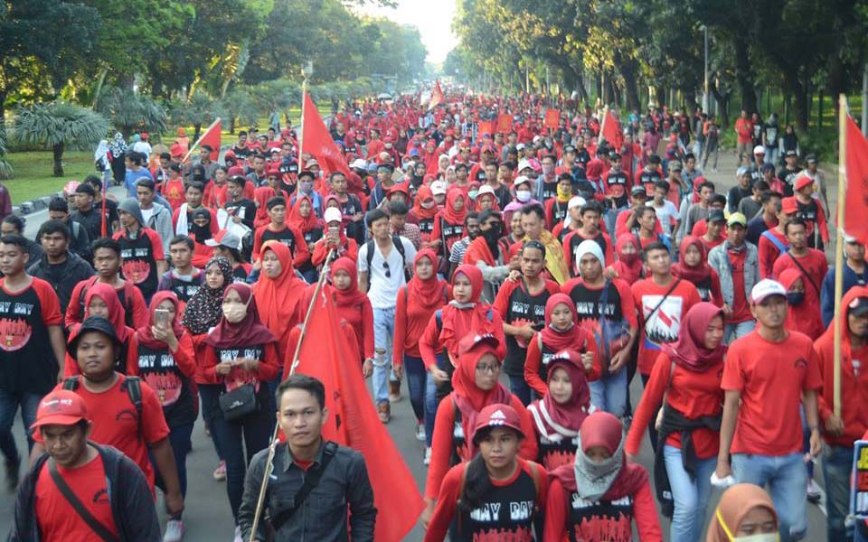 Komitmen May Day rally in Jakarta - May 1, 2018 (Sadar)