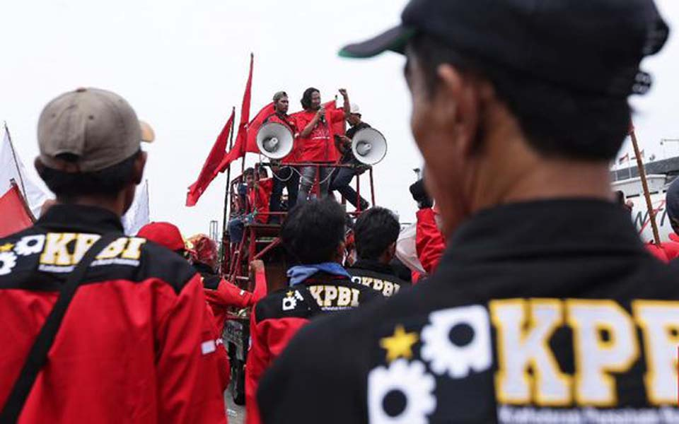 KPBI rally at Tanjung Priok in North Jakarta (CNN)