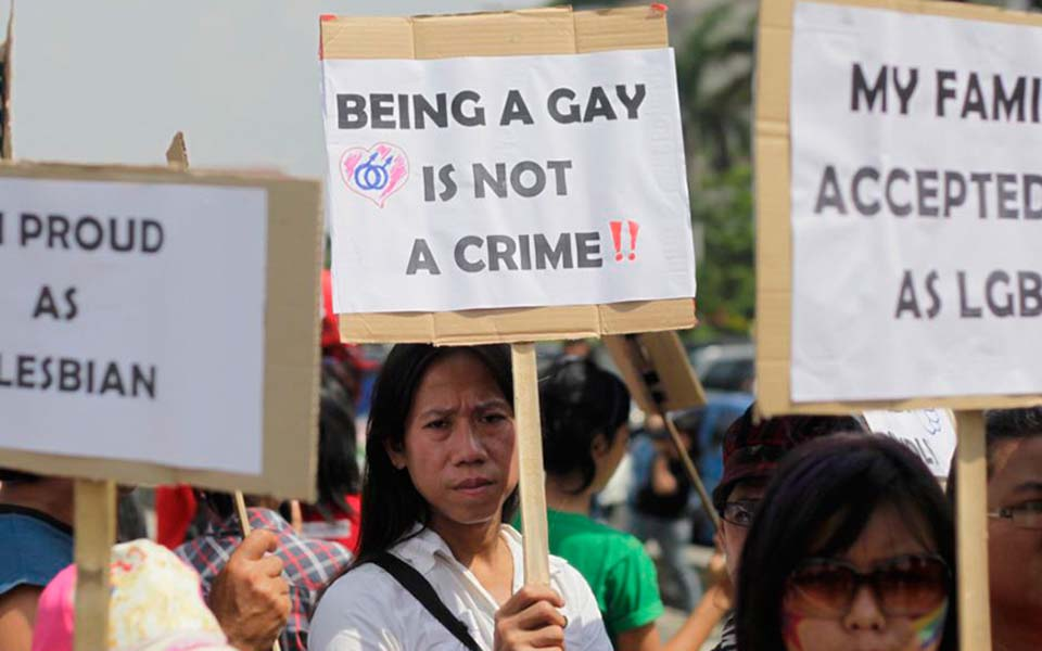 LGBT rights rally in Jakarta (Matamata Politik)