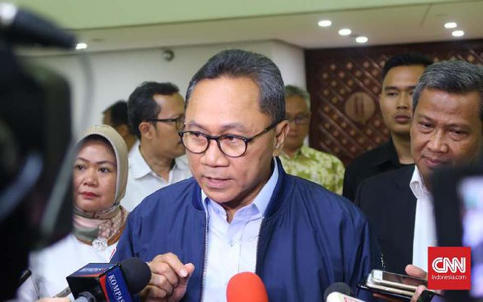 MPR Speaker Zulkifli Hasan speaking with journalists - November 27, 2018 (CNN)