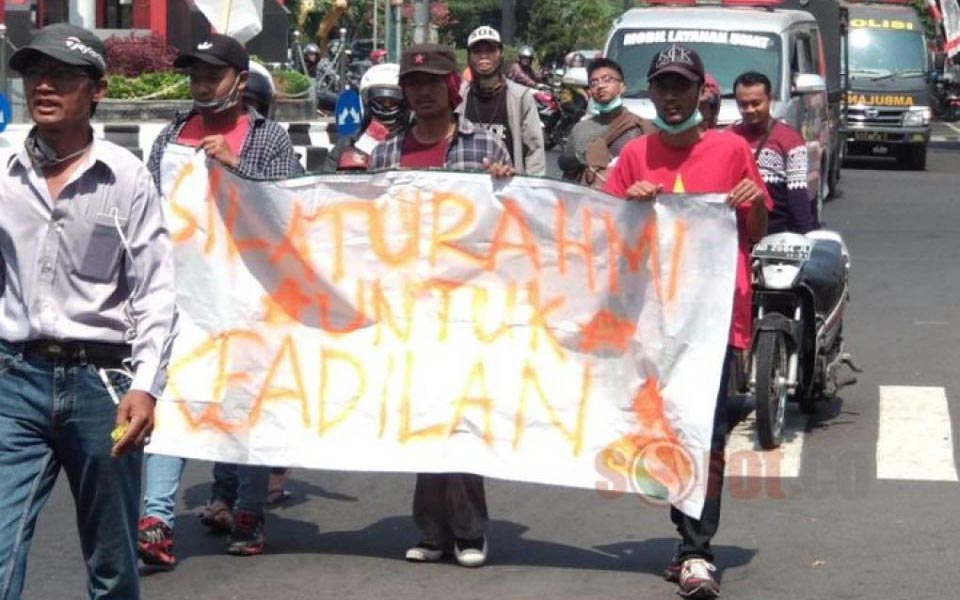 Protesters from MPL march to Widodo's mothers house - July 29, 2018 (Sorot)