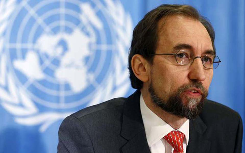 UN Human Rights Commissioner Zeid Raad Al Hussein (Reuters)