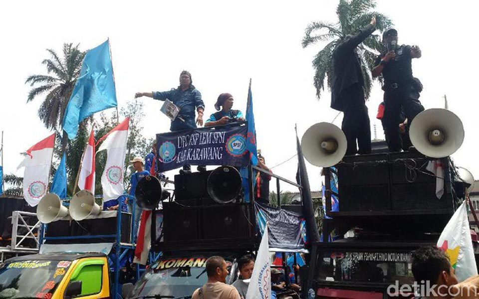 West Java workers rally in Bandung - November 19, 2018 (Detik)