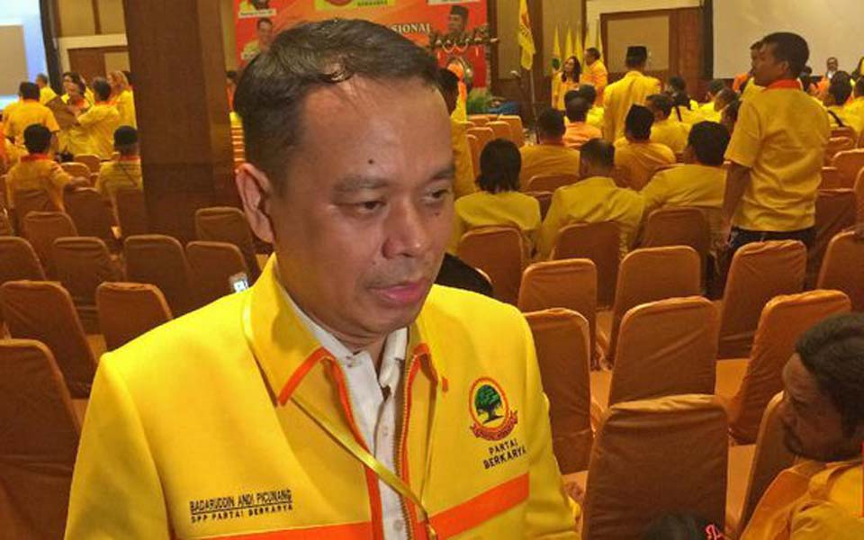 Working Party Supreme Assembly member Badaruddin Andi Picunang (CNN)