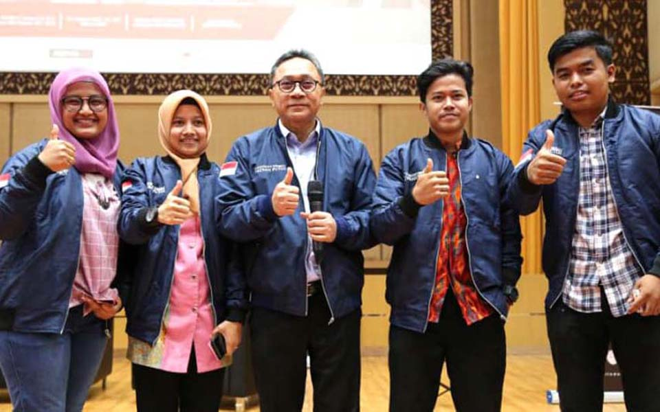Zulkifli Hasan (centre) at Roadshow Spirit Of Indonesia - March 22, 2018 (Kumparan)