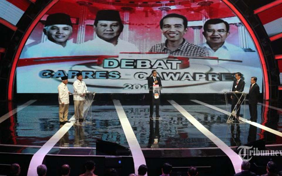 2014 presidential debate in Jakarta – June 9, 2014 (Tribune)