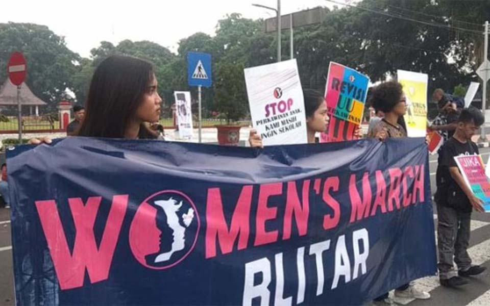 2019 Women's March in Blitar – April 28, 2019 (Kumparan)