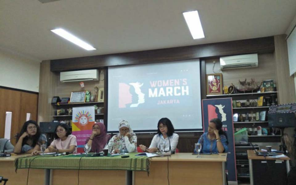 2019 Women's March press conference in Jakarta – April 25, 2019 (Asumsi)