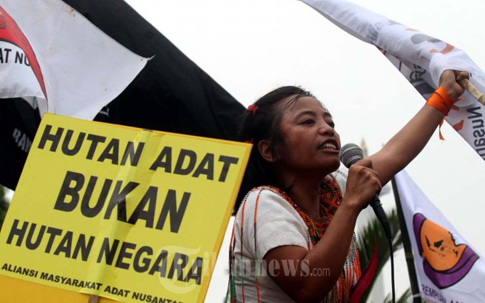 AMAN rally in front of State Palace in Jakarta – February 17, 2014 (Tribune)