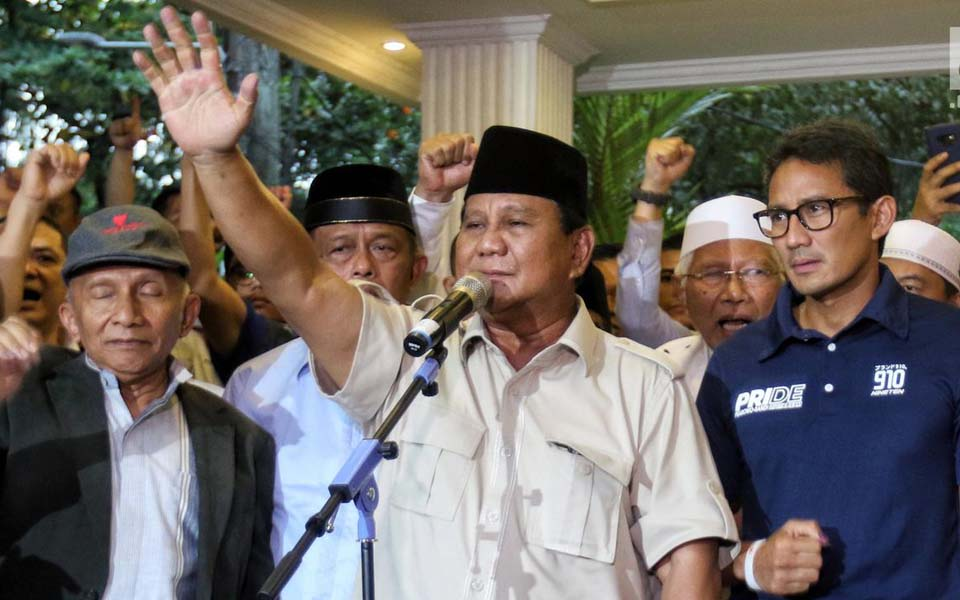 Amin Rais, Prabowo and Sandiaga Uno – April 18, 2019 (Liputan 6)
