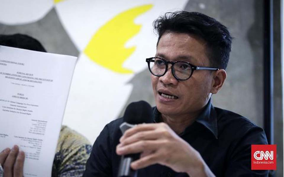 Amnesty International Executive Director Usman Hamid. (CNN Indonesia)