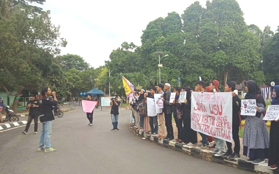 AMP-L protest action at Lampung University – March 31, 2019 (ist)