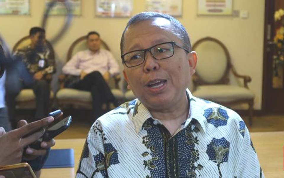 Arsul Sani speaking to reporters in Jakarta – February 13, 2019 (CNN)