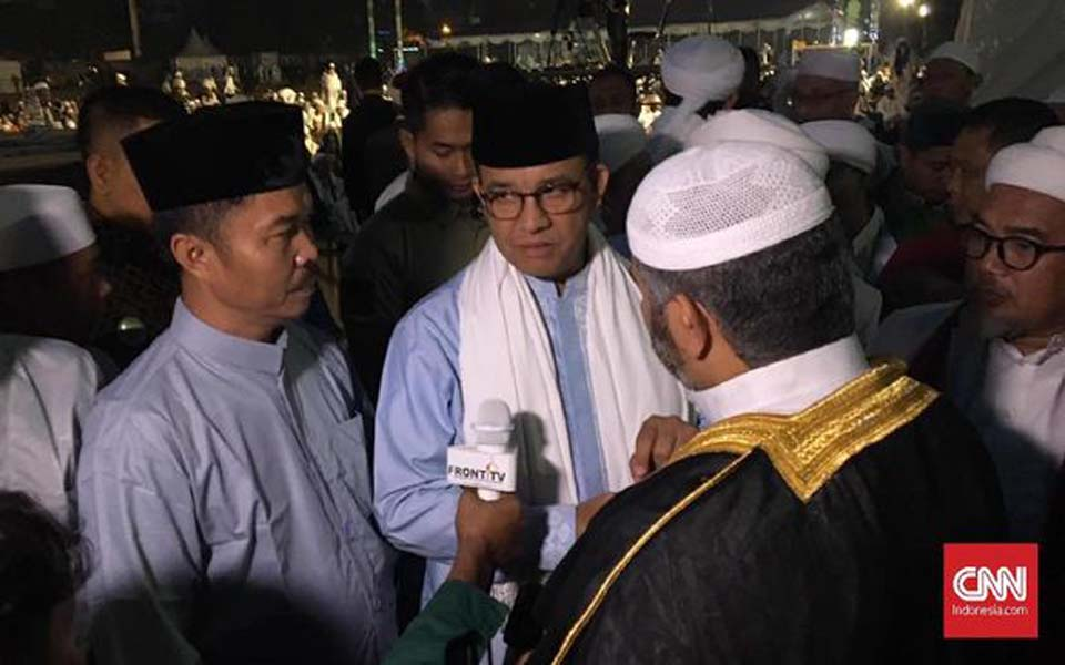 Baswedan (wearing glasses) at FPI's 21 anniversary celebrations – August 24, 2019 (CNN)