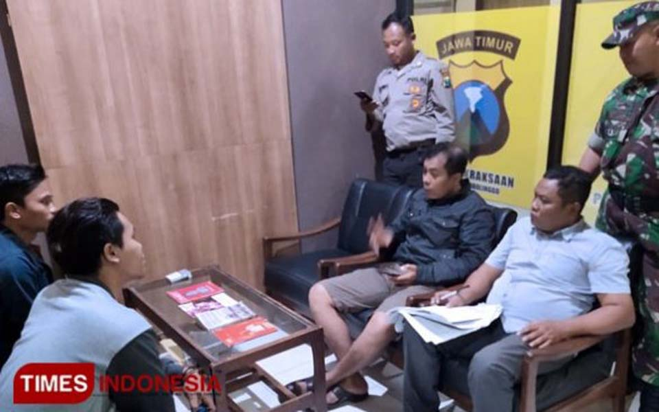 Billah and Anwar being questioned by police – July 27, 2019 (Times Indonesia)