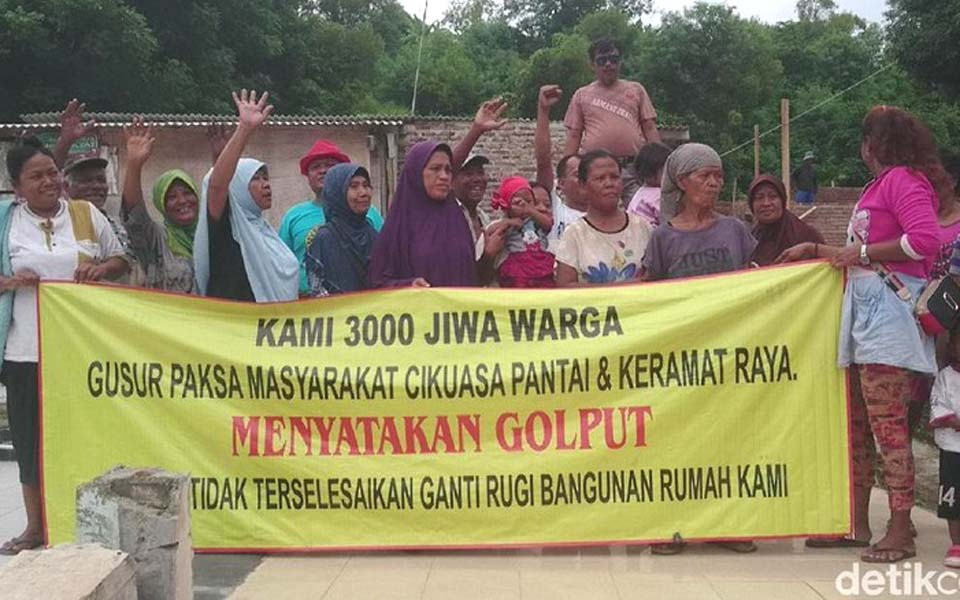 Cilegon land eviction victims declare election boycott – March 13, 2019 (Detik)