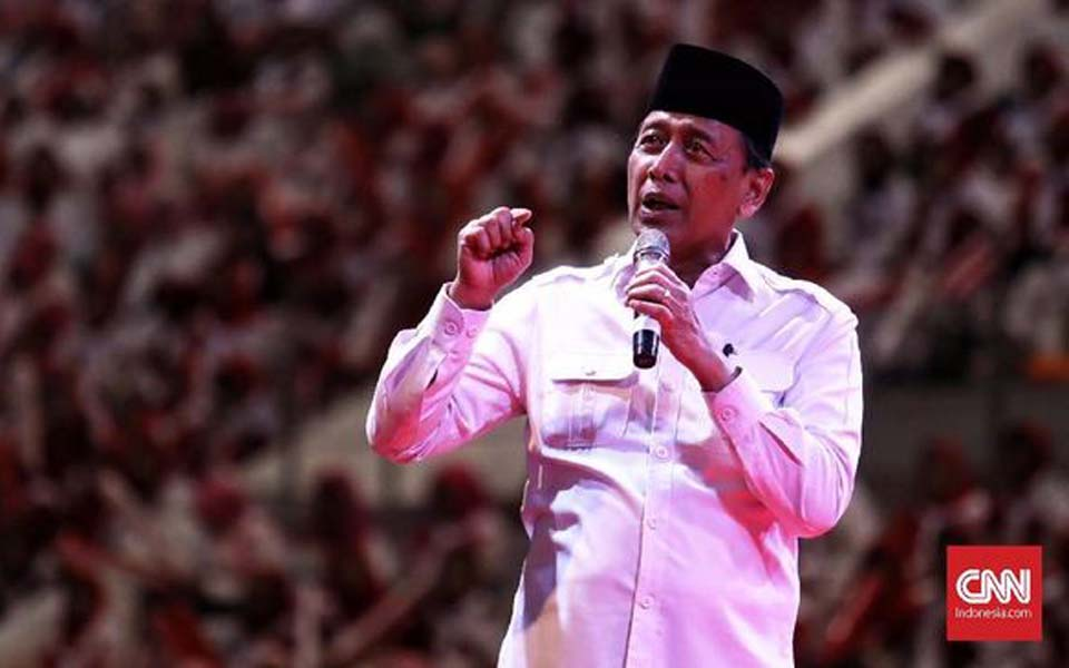 Coordinating Minister for Security, Politics and Legal Affairs Wiranto (CNN)