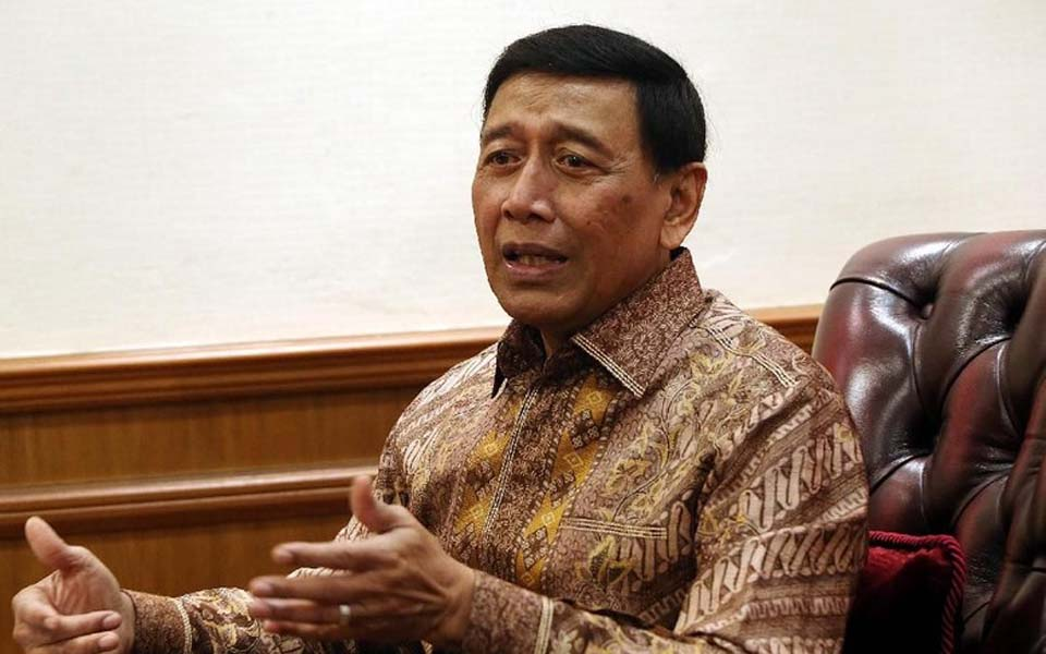 Coordinating Minister for Security, Politics and Legal Affairs Wiranto (Detik)