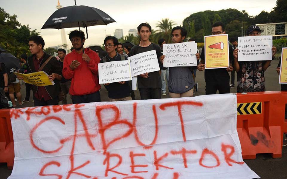 Defend Literacy Coalition rally at State Palace in Jakarta – March 28, 2019 (Tirto)
