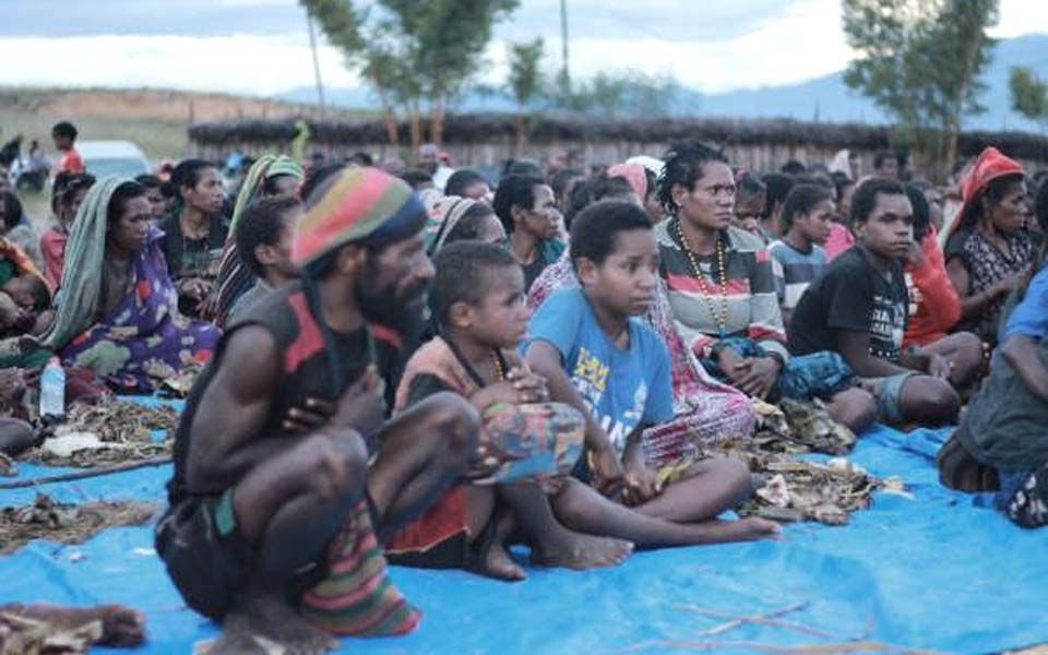 Displaced people from Nduga in Wamena (Satu Harapan)