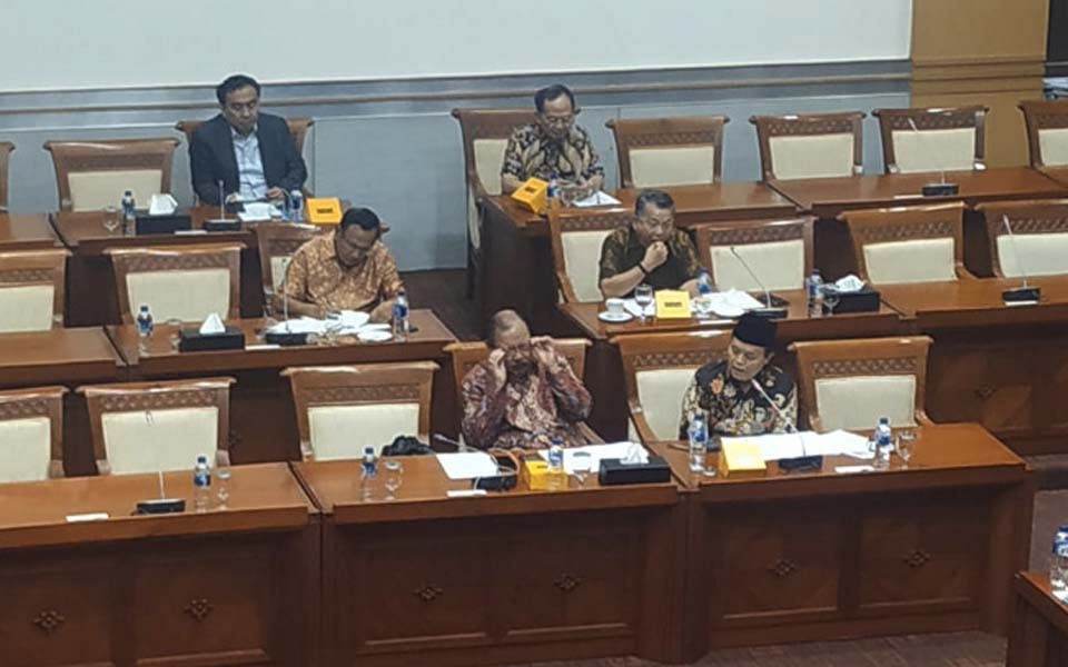 DPR Commission I working meeting with Retno Marsudi – September 11, 2019 (Gatra)
