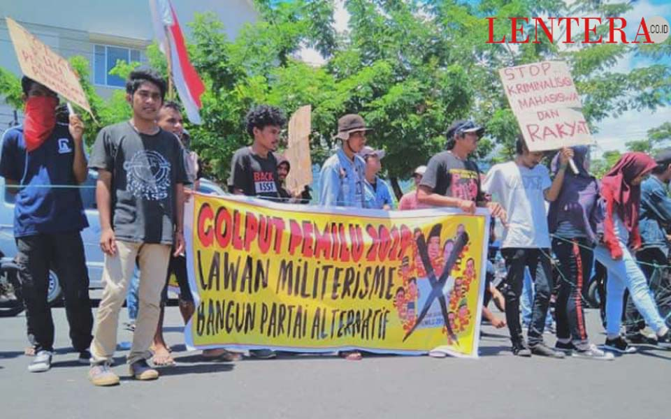 Election Boycott Committee action in Ternate – February 17, 2019 (Lentera)