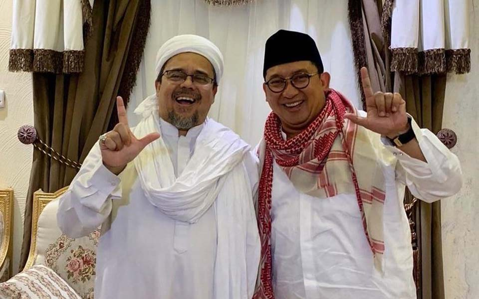 Fadli Zon and Rizieq Shihab in Mecca – March 10, 2019 (Twitter Fadli Zon)