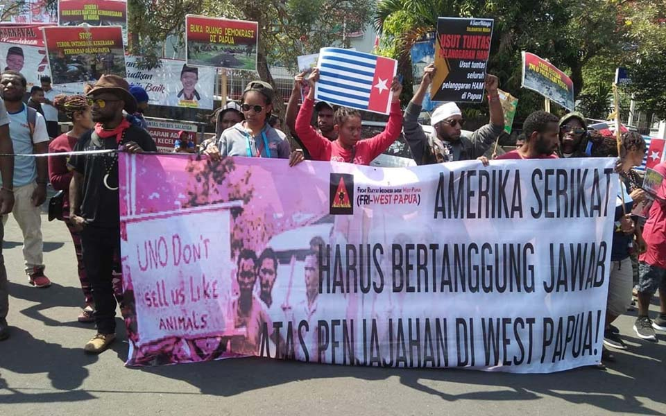 FRI-WP and AMP rally against New York agreement in Salatiga – August 15, 2019 (AMP)