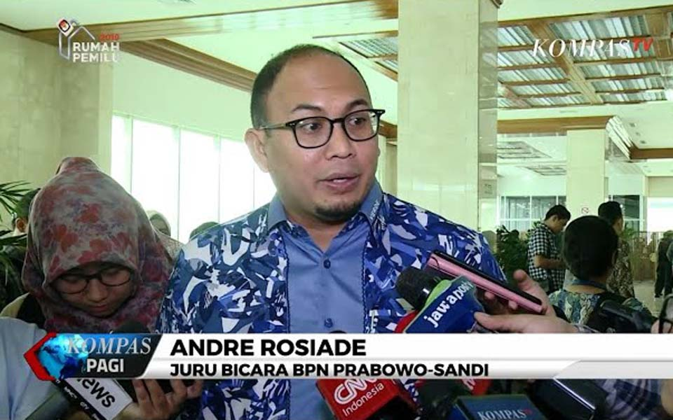 Gerindra politician Andre Rosiade (Kompas TV)