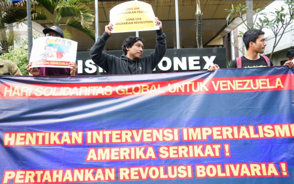 Global Day of Solidarity with Venezuela in Bandung – March 18, 2019 (Kumparan)