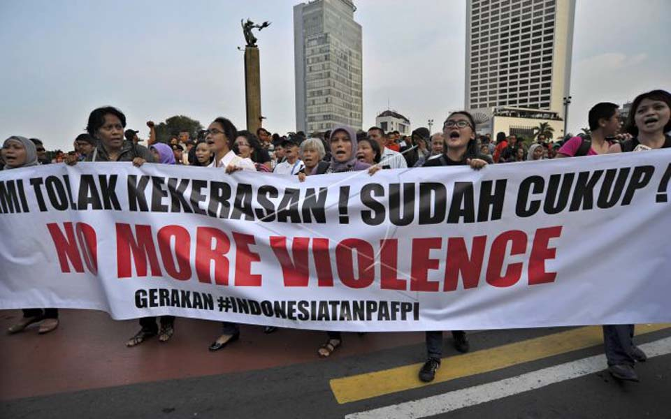 'Indonesia without FPI' rally in Central Jakarta – February 14, 2012 (Antara)