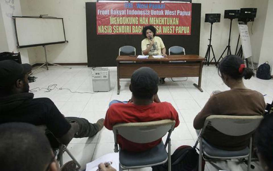 Indonesian People's Front for West Papua (FRI-WP) spokesperson Surya Anta (CNN)