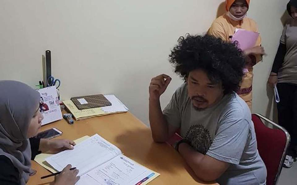 Indonesian People's Front for West Papua spokesperson Surya Anta (Metro Jaya police)