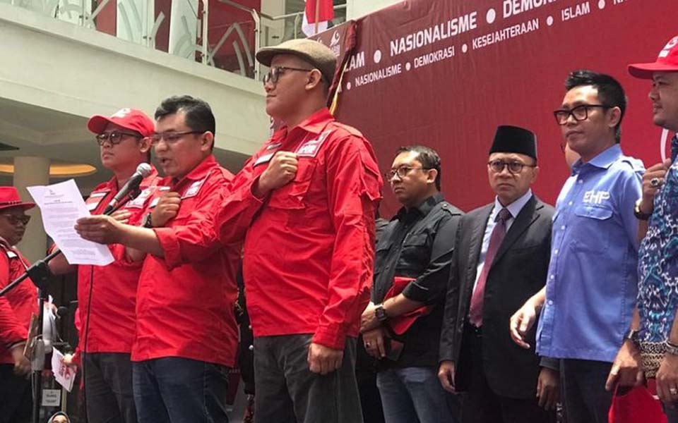 Indonesia's New Direction Movement declaration in Jakarta – March 3, 2019 (Kompas)