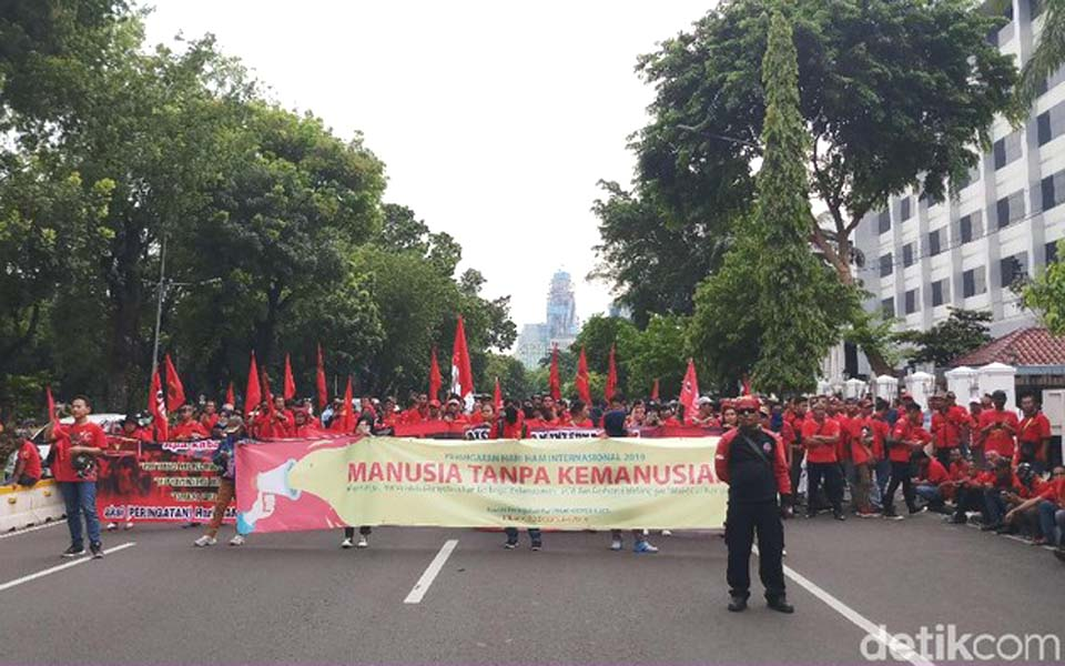 International Human Rights Day commemoration in Jakarta – December 10, 2019 (Detik)