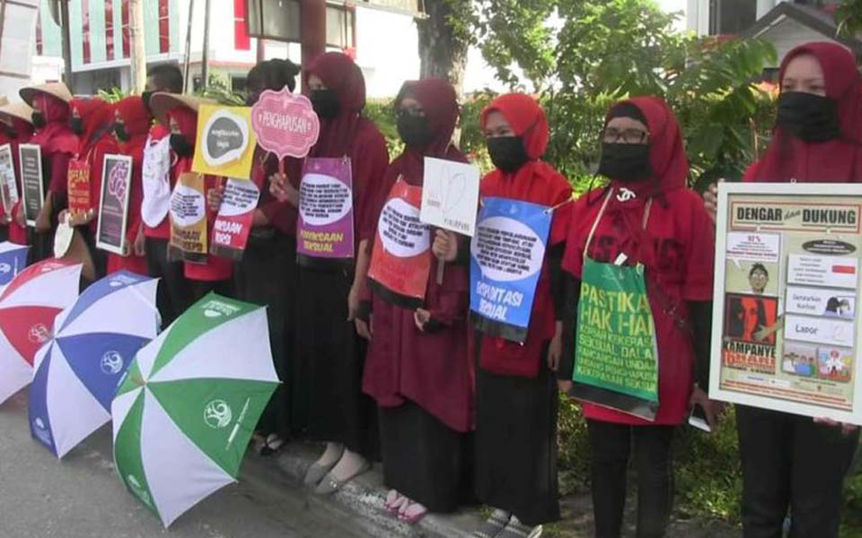 International Women's Day rally in Padang – March 8, 2019 (Kompas)