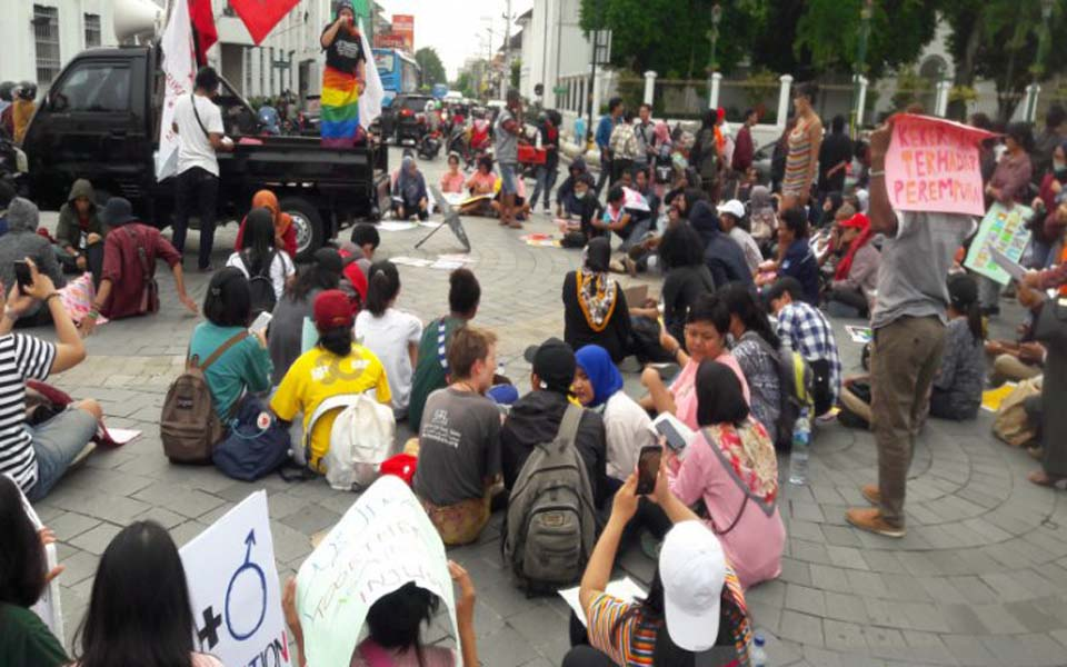 IWD rally in front of Central Post Office in Yogya – March 8, 2019 (Antara)