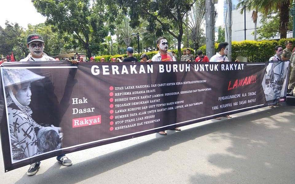 Labour Movement with the People march in Jakarta (Buruh)