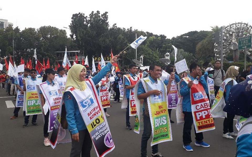 May Day protest at Horse Statue in Central Jakarta – May 1, 2019 (Kompas)