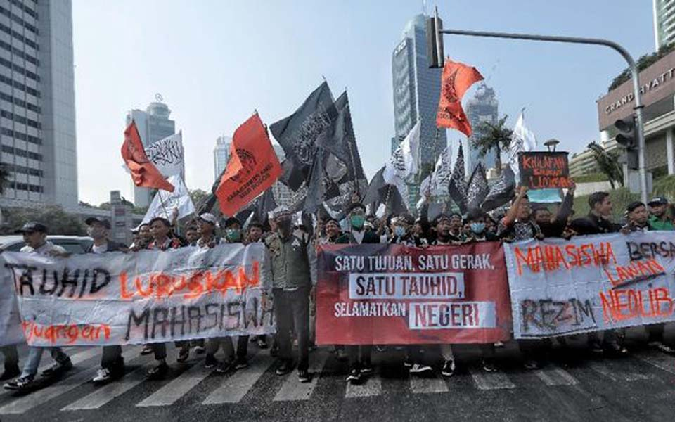 Mujahid 212 Save the NKRI protest action in Jakarta – September 28, 2019 (CNN)
