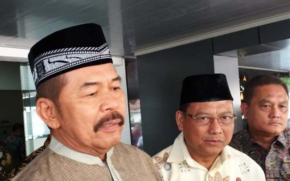 Newly appointed Attorney General ST Burhanuddin (left) in Jakarta – October 25, 2019 (KBR)