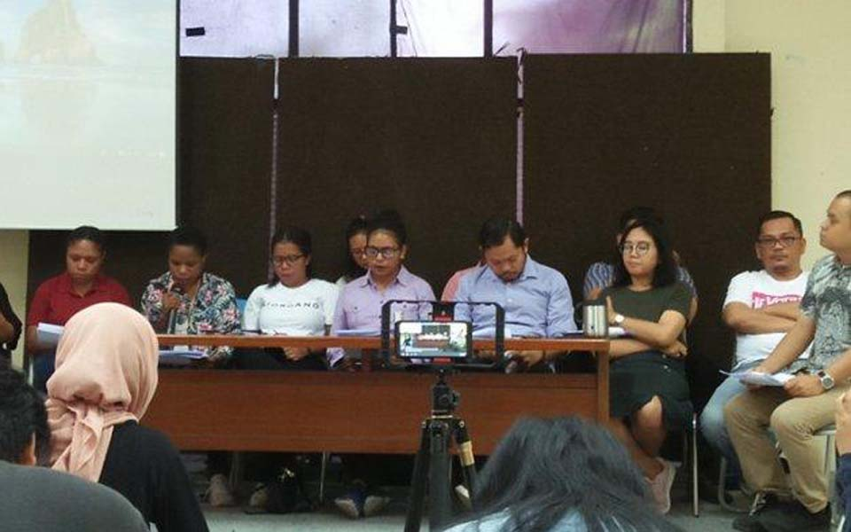 Papua activists' families and legal team give press conference – November 19, 2019 (Tribune)