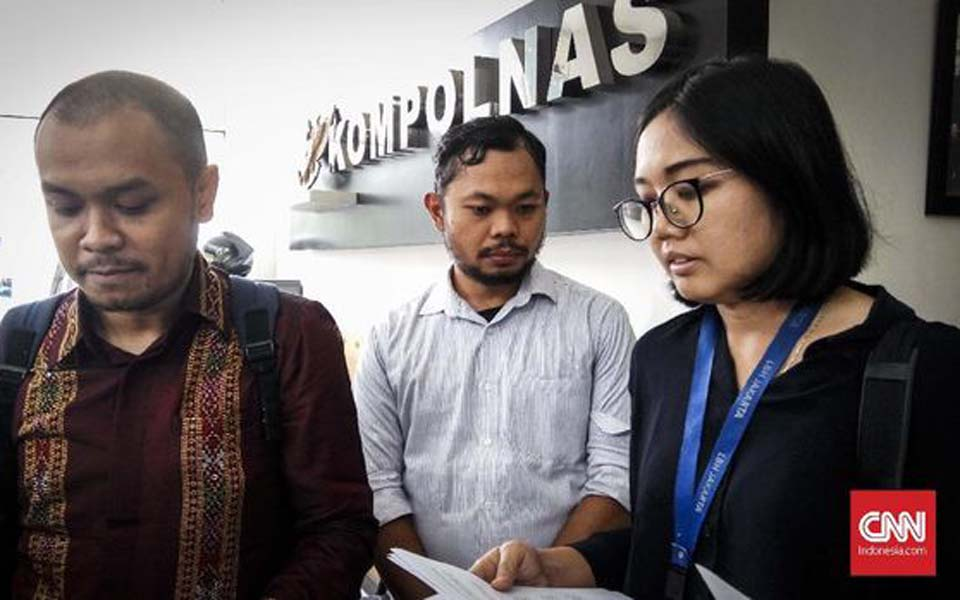 Papua Student Advocacy Team submits complaint with Kompolnas – September 18, 2019 (CNN)