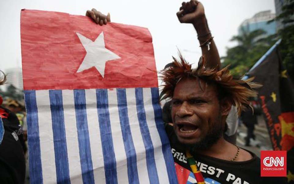 Papuan pro-independence rally in Jakarta – August 15, 2017 (CNN)