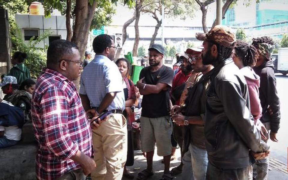 Papuan students gather in front of Metro Jaya police station – August 31, 2019 (CNN)