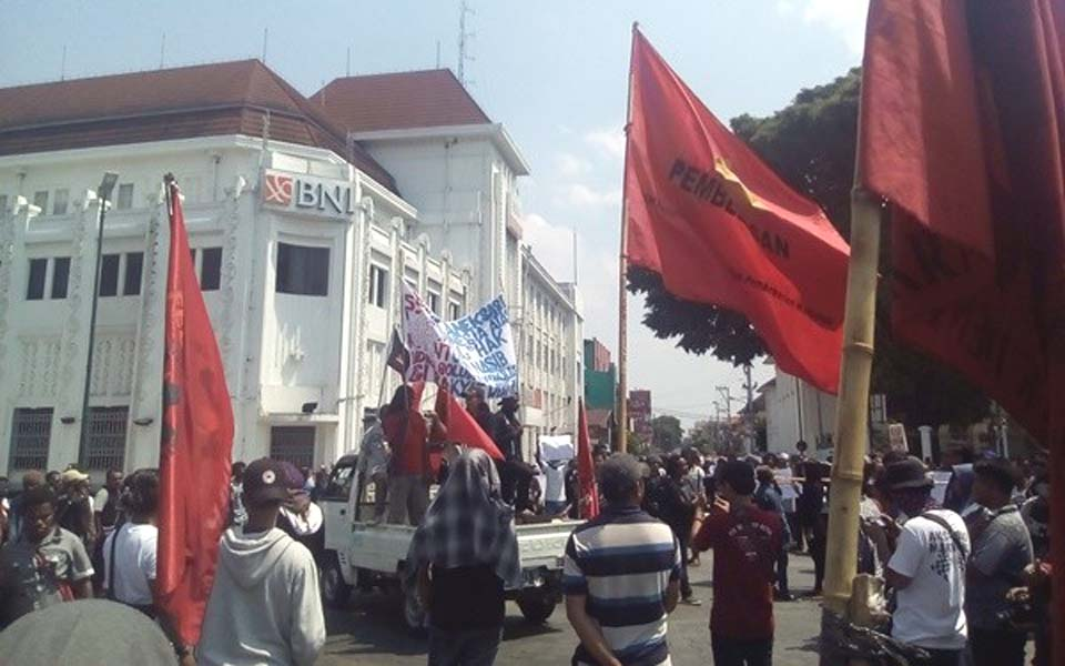 Papuan students join May Day rally in Yogyakarta – May 1, 2019 (Java Post)